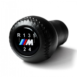 BMW Leather M Sport Gear Shift Knob Stick 5 Speed Manual Transmission Shifter Lever