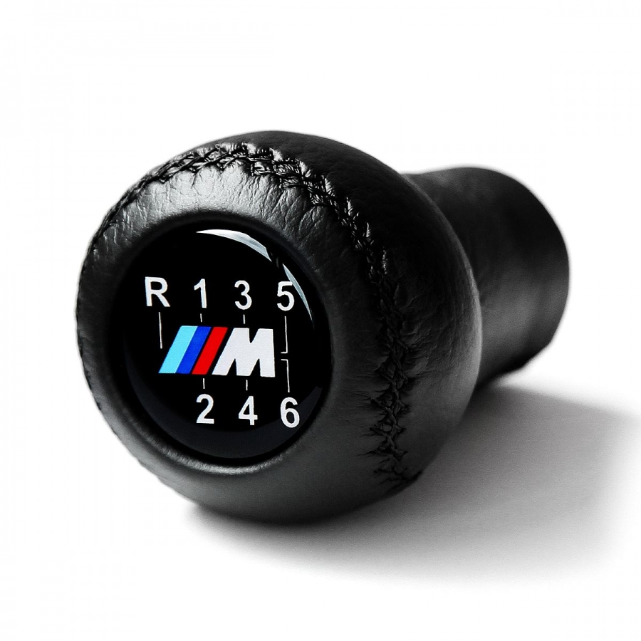 BMW Leather M Sport Gear Shift Knob Stick 6 Speed Manual Transmission Shifter Lever