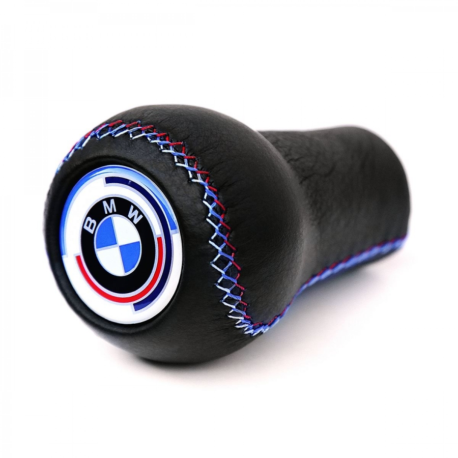 BMW Leather Early Motorsport 3 Color Stitching Gear Shift Knob