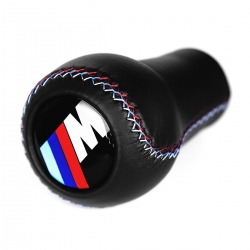 BMW Leather Motorsport Tri Color ///M stitched Gear Shift Knob Stick 5/6 Speed Manual Transmission Shifter Lever