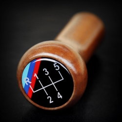 BMW Wooden M Technic 5 Speed Classic Gear Stick Shift Knob