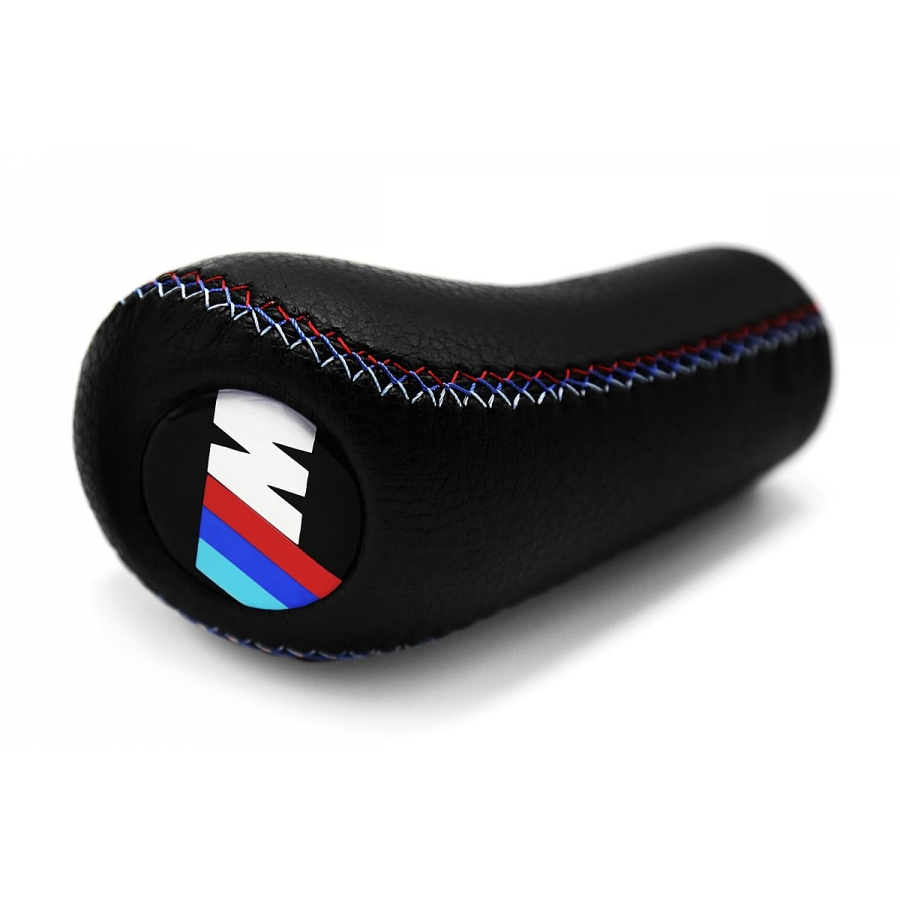 BMW M Technic Tri Color ///M stitched Leather Gear Shift Knob Stick 5/6 Speed Manual Transmission Shifter Lever