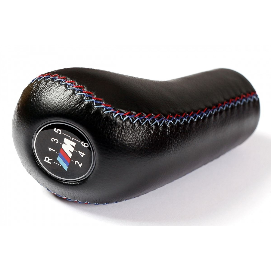 BMW M Sport 6 Speed 3 Color Stitches Leather Gear Stick Shift Knob