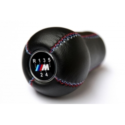 BMW Leather M Technic Tri Color ///M stitched Gear Shift Knob Stick 5 Speed Manual Transmission Shifter Lever
