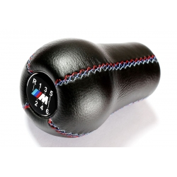 BMW M Sport Tri Color ///M stitched Leather Gear Shift Knob Stick 6 Speed Manual Transmission Shifter Lever