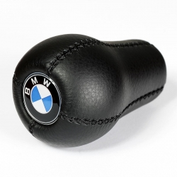 BMW Leather Classic Gear Shift Knob Stick 5/6 Speed Manual Transmission Shifter Lever
