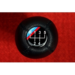 BMW Leather M Technic Gear Shift Knob Stick 5 Speed Manual Transmission Shifter Lever