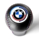 BMW Leather Early M Technic Tri Color ///M stitched Gear Shift Knob Stick Screw-On Type E10 E12 E9 E3 2002 1802 Shifter Lever
