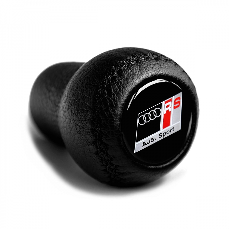 Audi RS-Line Leather Screw-On Type Gear Shift Knob Stick 5/6 Speed Manual Transmission Shifter Lever