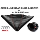 Audi A4 B5 S-Line With Red-White Stitching Leather Gear Shift Knob Stick 5 Speed Manual Transmission Shifter Lever & Gaiter