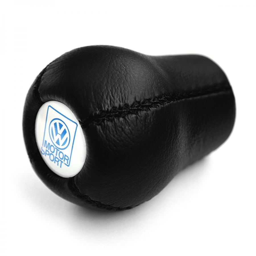 Volkswagen Motorsport Leather Screw-On Type Gear Shift Knob Stick Manual Transmission Shifter Lever