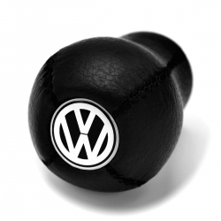 Volkswagen Leather Screw-On Type Gear Shift Knob Stick Manual Transmission Shifter Lever