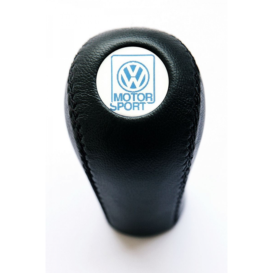 Volkswagen Motorsport Leather Screw-On Type Gear Shift Knob Stick Manual Transmission Shifter Lever