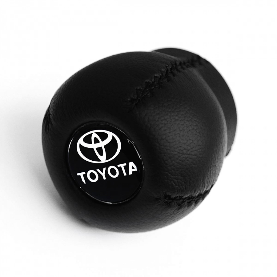Toyota Leather Screw-On Type Gear Shift Knob Stick 6 Speed Manual Transmission Shifter Lever