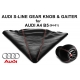 Audi A4 B5 S-Line With Red-White Stitching Leather Gear Shift Knob Stick 6 Speed Manual Transmission Shifter Lever & Gaiter Boot
