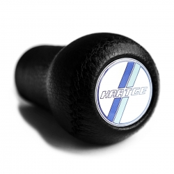 BMW Hartge Blue Classic Leather Gear Shift Knob Stick 5/6 Speed Manual Transmission Shifter Lever