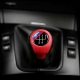 BMW Red/Black Leather M Sport Gear Shift Knob Stick 5 Speed Manual Transmission Shifter Lever