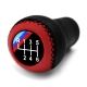 BMW Red/Black Leather M Sport Gear Shift Knob Stick 6 Speed Manual Transmission Shifter Lever
