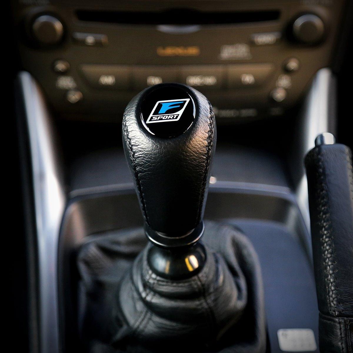 Car Reak Leather Carbon Fiber NO Speed Manual Gear Shifter Shift ...