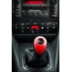 Audi S-Line Red/Black Leather Screw-On Type Gear Shift Knob Stick 6 Speed Manual Transmission Shifter Lever
