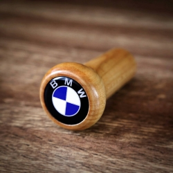 BMW Alpina Classic Wooden Gear Shift Knob Stick 4/5 Speed Manual Transmission Shifter Lever Screw-On
