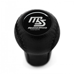 Mazda Trust Grex Blue Emblem Leather Screw-On Type Short Shift Knob 5 Speed Manual Transmission Shifter Lever M10x1.25