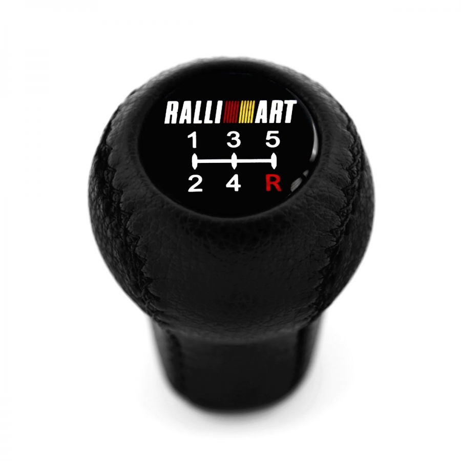 Mitsubishi Evo Vl Tommi Makinen Edition Genuine Leather Screw-On Type Short Shift Knob 5 Speed MT Shifter Lever M10x1.2