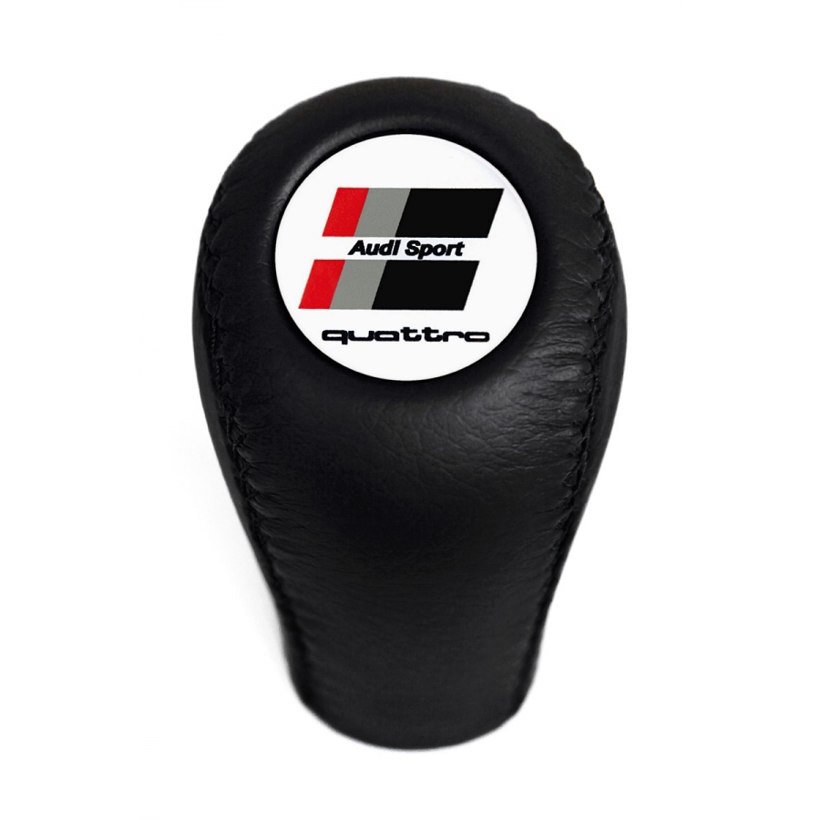 Audi S Sport Leather Screw-On Type Gear Shift Knob Stick 5/6 Speed Manual Transmission Shifter Lever