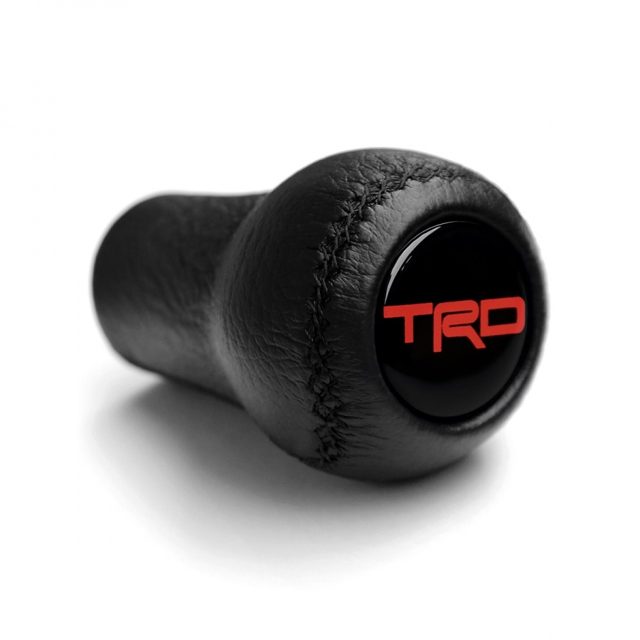 Toyota Trd Leather Screw-On Type Gear Shift Knob Stick 5/6 Speed Manual Transmission Shifter Lever M12x1.25