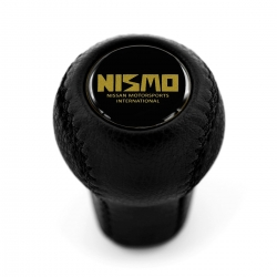 Nissan Nismo Leather Screw-On Type Gear Shift Knob Stick 5/6 Speed Manual Transmission Shifter Lever M10xP1.25