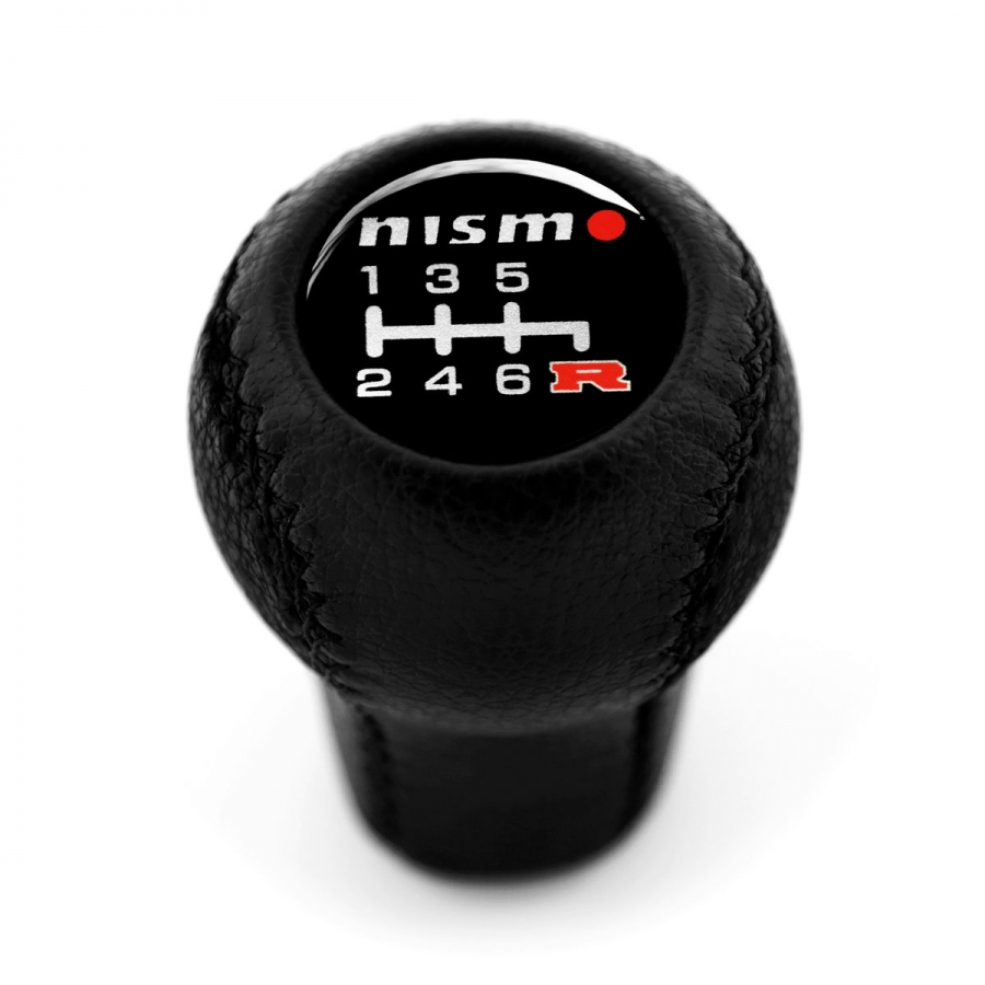Nissan Nismo Leather Gear Shift Knob Stick 6 Speed Manual Transmission Shifter Lever Screw-On Type M10xP1.25