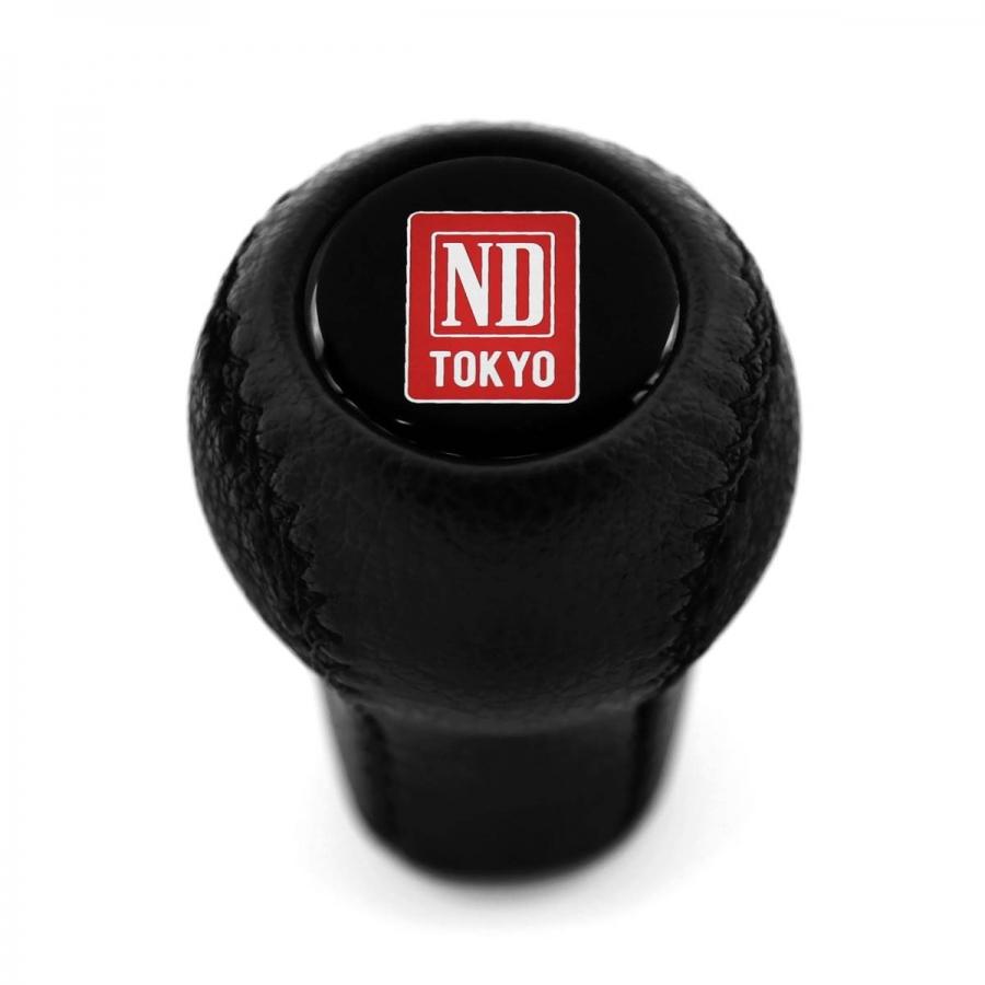Mazda Nardi Tokyo Blue Logo Leather Screw-On Short Shift Knob Stick 5 6 Speed Manual Transmission Shifter Lever M10x1.25
