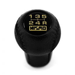 Nissan Nismo Leather Gear Shift Knob Stick 5 Speed Manual Transmission Shifter Lever Screw-On Type M10xP1.25
