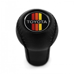 Toyota Sport Leather Screw-On Type Gear Shift Knob Stick 5/6 Speed Manual Transmission Shifter Lever M12x1.25