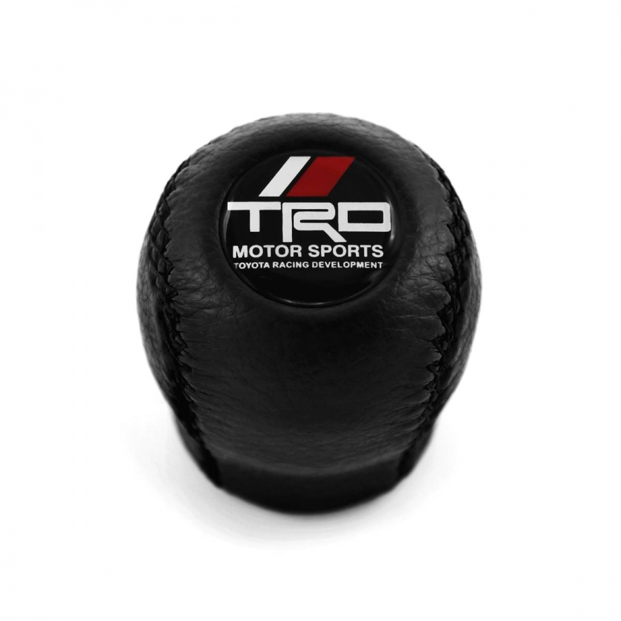Toyota Trd Leather Screw-On Type Gear Shift Knob Stick 6 Speed Manual Transmission Shifter Lever