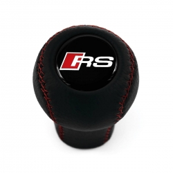 Audi RS-Line Leather Gear Shift Knob Stick 5/6 Speed Manual Transmission Shifter Lever Screw-On Type M12x1.5