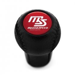 Mazda Mazdaspeed Genuine Leather Screw-On Type Short Shift Knob 5-6 Speed Manual Transmission Shifter Lever M10x1.25
