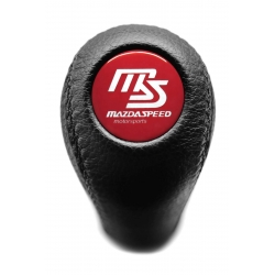Mazda Mazdaspeed Leather Screw-On Type Gear Shift Knob Stick 5 6 Speed Manual Transmission Shifter Lever M10x1.25